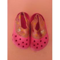Sandalias Crocs Rosadas Para Niña