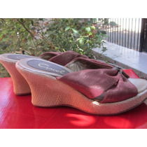 Gacel, Zapatos, Chalas, Plataforma, Nuevos.nº 36-37, Rojos