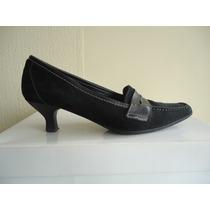 Zapatos Gacel Nº 35 Cuero Y Reno Negro