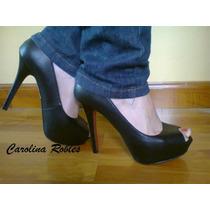 Zapato Fiesta Peep Toe Plataforma Suela Roja Numero 38 Y 39