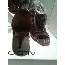 Zapatos Nuevos Gamuza Cafe Marca Aldo N39