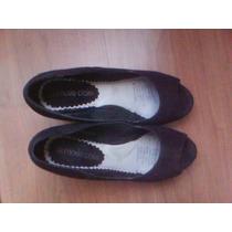 Zapatos De Gamuza Negros Nuevos, Marie Claire, Nº38.