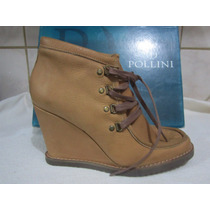 Botin ,sandalia Pollini,cuero