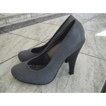 Zapato Gris, Palizzio, Elegantisimos, Taco 10.5. Talla 35
