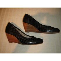 Zapatos Gacel De Cuero Troquelado N 36 .