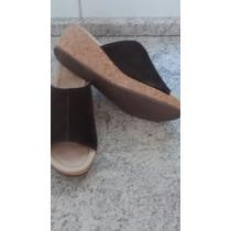 Sandalias De Gamuza De Cuero N° 38