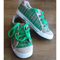 Zapatillas Dcshoes Verde Dorada 36 Mujer