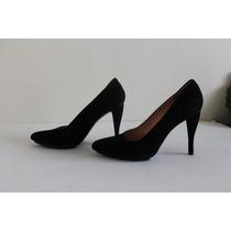 Exclusivos Robert Clergerie Zapato Taco Alto Cuero Negro 39,