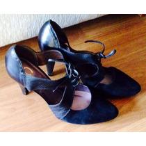 Zapato Gacel 37 100% Cuero Gamuza