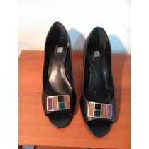 Zapatos Cuero Brasileños Taco Medio