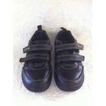 Maui Girl Zapato Cuero Colegio Negro 32