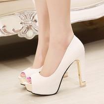 Zapatos Blancos De Novia Con 12 Cm De Taco