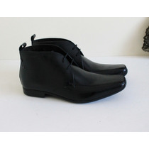 Botin Formal Base London 100% Cuero Negro 38 Nuevos