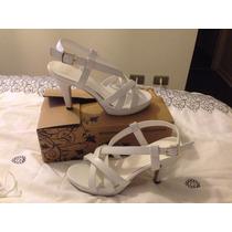 Zapatos De Novia Cuero Blanco Plataforma