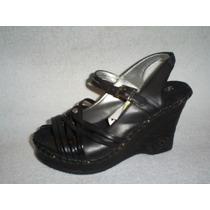Zapato Negro Estilo Hippie Taco Chino Diseño Numero 35 Nuevo