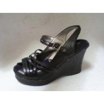 Zapato Chala Sin Talon Negro De Verano Numero 35 Nuevo