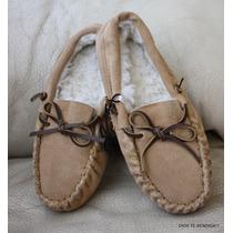 Pantuflas Zapatos Descanso Niña(o) Cuero Y Piel