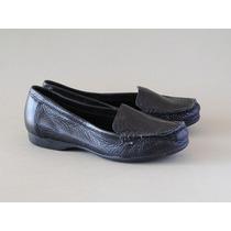 Zapato Mocasin De Cuero Antonio Melani Negro Nro 36 Y 37 1/2