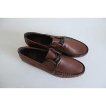 Zapato Tipo Mocasin Asos Hombre 100 % Cuero Café Nuevos 43