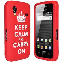 Carcasa De Pvc Blando Keep Calm Para Galaxy Ace S5830 Nuevos