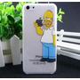 Carcasa Para Iphone 5c Acrilico Transparente Simpsons
