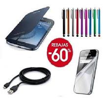 Carcasa Flip Cover Samsung Galaxy Win + Lapiz + Mica Y Cable