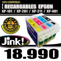 Cartucho Recargable Epsn Xp-101 Xp-201 Xp-211 Xp-401 Garanti