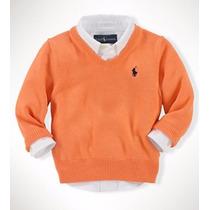 Sweater Chomba Ralph Lauren Niño Naranjo 12 Meses