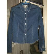 Chaqueta Tipo Blusa Jeans Azul Delgada Talla 38. De E.e.u.u.