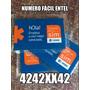 Numero Fácil Entel 4242xx42