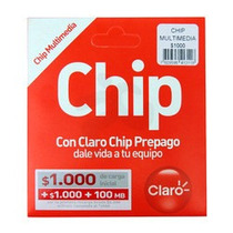 Chip Claro Por Mayor Todos Con Carga De 100 +100mb