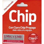 Chip Claro 5 Minutos + 5 Mb Al Por Mayor