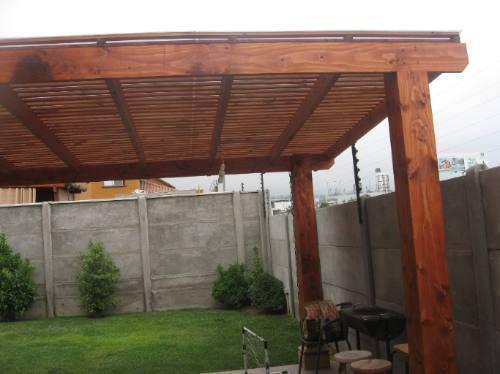 Cobertizos de madera pergolas oregon treillages santiago for Cobertizos de madera precios