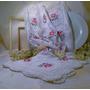 Carpeta Bordadada En Punto Cruz Y Crochet Muy Hermosa