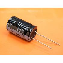 5 Unidades, Condensador Electrolitico 4700uf 25v