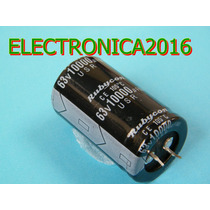 2x Condensador Electroliticor 10000uf 63v Power Amplificador