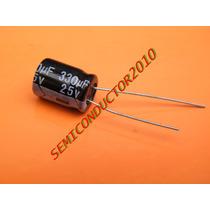 1 Pack 5 Unidades Condensador Electrolitico 330uf 25v