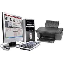 Kit Cpu Compaq + Lcd Viewsonic + Multifuncional Hp (nuevo)