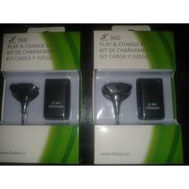 Kit Carga Y Juega Cable + Bateria Recargable Xbox 360