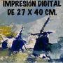 Impresión Digital De 27x40 Cm. Pintura Molinos De Viento.-