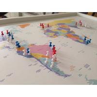 Mapa Mundial Enmarcado (pineables)