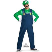 Disfraz De Luigi, El Mejor Amigo De Mario Bros, Pl1507