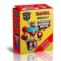 Kit Imprimible Transformers Rescue Bots Cotillon Infantil