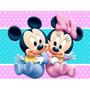 Mickey Minnie Bebe Invitación Cotillón De Cumpleaños