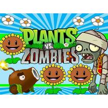 Plantas Vs Zombies Invitación Cotillón Cumpleaños Imprimible