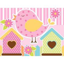 Kit Imprimible Pajaritos Nena Diseña Tarjetas Invitacion #1