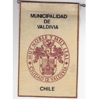 Banderin Municipalidad De Valdivia, Escudo De La Ciudad.