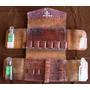 Antiguo Botiquín Con 4 Frascos De Remedios