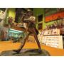 Antigua Escultura En Bronce Bañado Plata Johnnie Walker 18cm