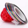 Set De 12 Cintas Adhesivas Para Decoración De Uñas- Nail Art